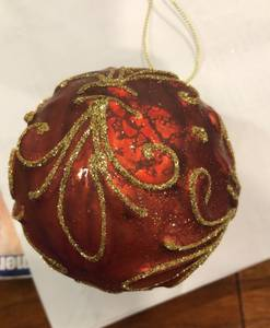 Bilde av Julekule rød 111536